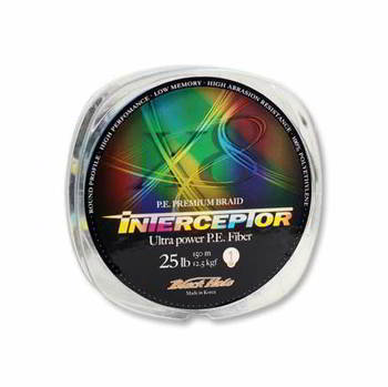 Леска Black Hole плетеная INTERCEPTOR Multicolor 150м 0, 23мм (№2) - 8 нит. In-23