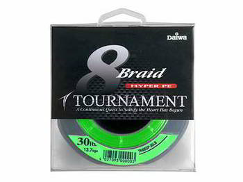 Леска DAIWA Tournament 8xBraid Chartreuse 0.08мм 135м