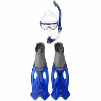 ����� ��� �������� Speedo GLIDE MASK SNORKLE & FIN SET �����/���, 8-016595052_45-46, 8-016595052-5052_45-46