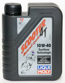 ����� �������� �������������� LIQUI MOLY Scooter Motoroil Synth 4T, 10W40, HC-���������, 1 ����., 7522